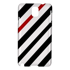 Red, black and white lines Samsung Galaxy Note 3 N9005 Hardshell Case