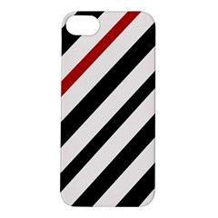 Red, black and white lines Apple iPhone 5S/ SE Hardshell Case