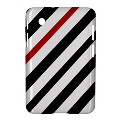Red, black and white lines Samsung Galaxy Tab 2 (7 ) P3100 Hardshell Case