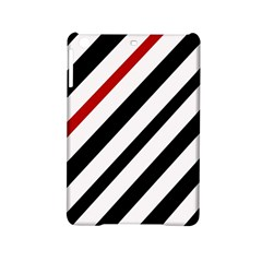 Red, black and white lines iPad Mini 2 Hardshell Cases