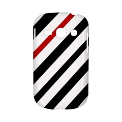 Red, black and white lines Samsung Galaxy S6810 Hardshell Case