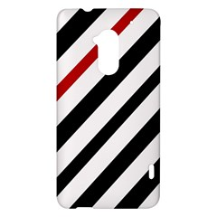 Red, black and white lines HTC One Max (T6) Hardshell Case