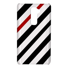 Red, black and white lines LG G2