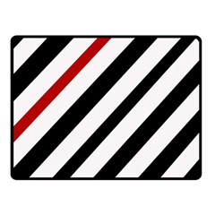 Red, black and white lines Double Sided Fleece Blanket (Small)
