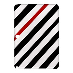 Red, black and white lines Samsung Galaxy Tab Pro 12.2 Hardshell Case