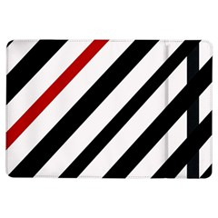 Red, black and white lines iPad Air Flip