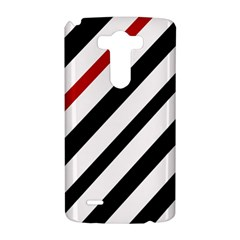 Red, black and white lines LG G3 Hardshell Case
