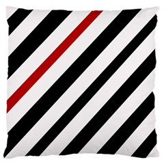 Red, black and white lines Standard Flano Cushion Case (One Side)