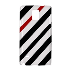 Red, black and white lines Samsung Galaxy Note 4 Hardshell Case