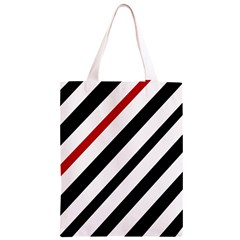Red, black and white lines Classic Light Tote Bag