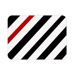 Red, black and white lines Double Sided Flano Blanket (Mini)