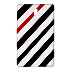 Red, black and white lines Samsung Galaxy Tab S (8.4 ) Hardshell Case