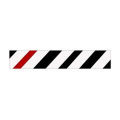 Red, black and white lines Flano Scarf (Mini)