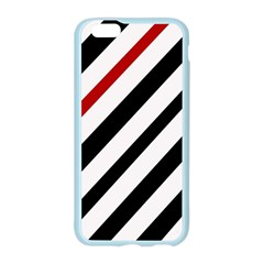Red, black and white lines Apple Seamless iPhone 6/6S Case (Color)