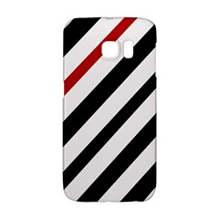Red, black and white lines Galaxy S6 Edge