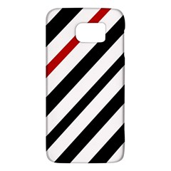 Red, black and white lines Galaxy S6