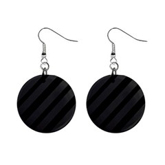 Gray and black lines Mini Button Earrings