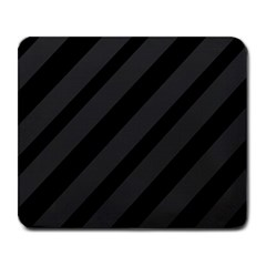 Gray and black lines Large Mousepads