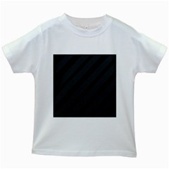 Gray and black lines Kids White T-Shirts