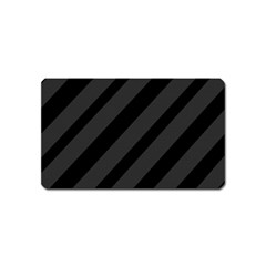 Gray and black lines Magnet (Name Card)