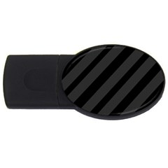 Gray and black lines USB Flash Drive Oval (1 GB)