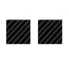 Gray and black lines Cufflinks (Square)