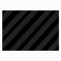 Gray and black lines Large Glasses Cloth (2-Side)
