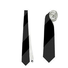 Gray and black lines Neckties (One Side)