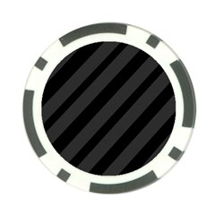 Gray and black lines Poker Chip Card Guards