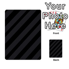 Gray and black lines Multi-purpose Cards (Rectangle)