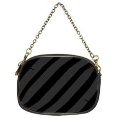 Gray and black lines Chain Purses (One Side)