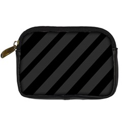 Gray and black lines Digital Camera Cases