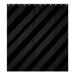 Gray and black lines Shower Curtain 66  x 72  (Large)