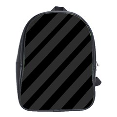 Gray and black lines School Bags(Large)