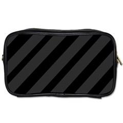 Gray and black lines Toiletries Bags
