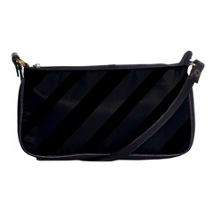 Gray and black lines Shoulder Clutch Bags