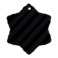Gray and black lines Snowflake Ornament (2-Side)