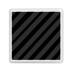 Gray and black lines Memory Card Reader (Square)