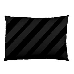 Gray and black lines Pillow Case (Two Sides)