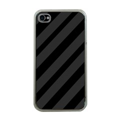 Gray and black lines Apple iPhone 4 Case (Clear)