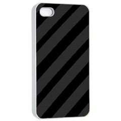 Gray and black lines Apple iPhone 4/4s Seamless Case (White)