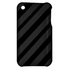 Gray and black lines Apple iPhone 3G/3GS Hardshell Case