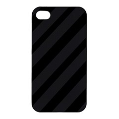 Gray and black lines Apple iPhone 4/4S Hardshell Case