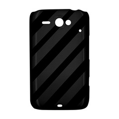 Gray and black lines HTC ChaCha / HTC Status Hardshell Case