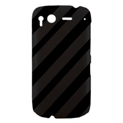 Gray and black lines HTC Desire S Hardshell Case