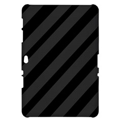 Gray and black lines Samsung Galaxy Tab 10.1  P7500 Hardshell Case