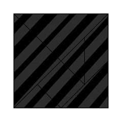 Gray and black lines Acrylic Tangram Puzzle (6  x 6 )