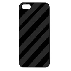 Gray and black lines Apple iPhone 5 Seamless Case (Black)