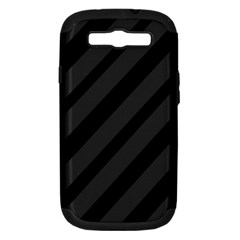 Gray and black lines Samsung Galaxy S III Hardshell Case (PC+Silicone)