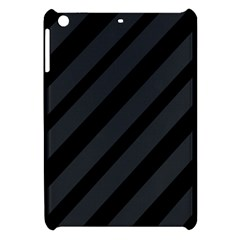 Gray and black lines Apple iPad Mini Hardshell Case